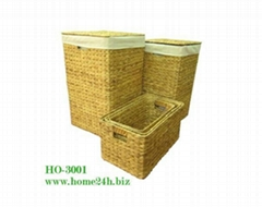 Home basket Best selling Water Hyacinth Laundry Basket S/5