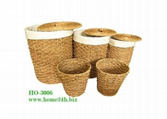 Water hyacinth laundry hamper s/5