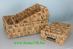 Handmade Vietnam crafts Handicrafts Natural Basket S/3