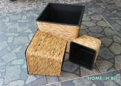 Vietnam crafts Best selling Flower Pots Hyacinth Woven Home24h.biz