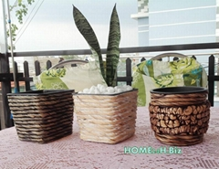 Vietnam crafts Best selling Flower Pots Hyacinth Woven Home24h.biz
