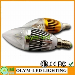 led candle lamp dimmable led light bulb 3w 5w e14 e27 b22