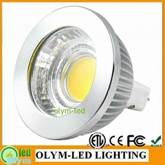 6W MR16 LED dimmable 700LM COB lamp bulb CE RoHS ETL