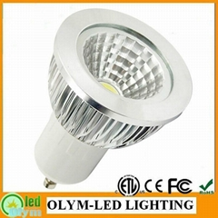 6W 700LM GU10 LED lamp dimmable COB light 85-265V 3 Year Warranty