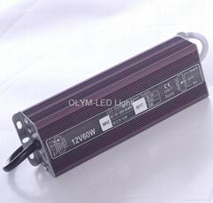 CE/UL/RoHS 60W LED power supply led trasformer led driver 12V 24V Waterproof
