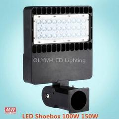 IP67 150W LED Square Parking Lot Light Outdoor Shoebox Flood Lights