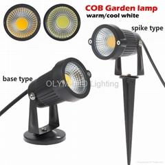 Outdoor Waterproof LED Garden Light 220V 110V 12V 3W 5W COB LED Lawn Spike Light