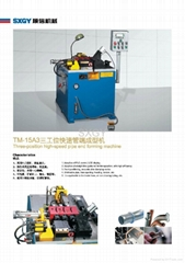 Three-postion high-speed pipe end forming machine TM-15A3