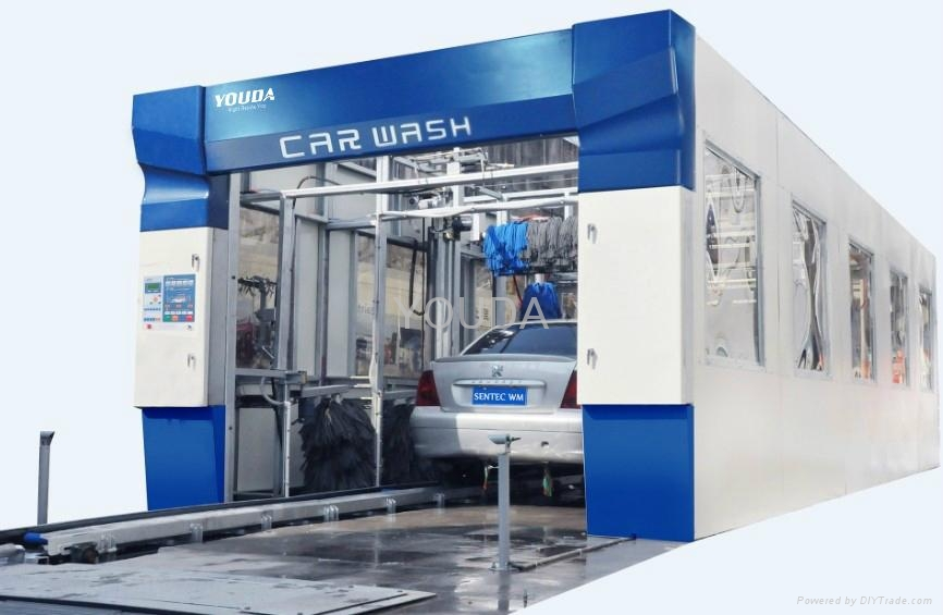 Automatic Tunnel Car Wash Machine with 5/7/9 brushes  1