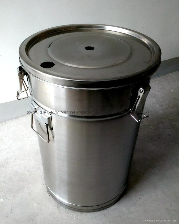 带流化板不锈钢供粉桶 1