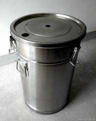 带流化板不锈钢供粉桶