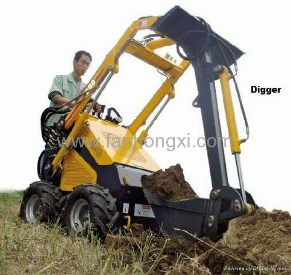 mini skid steer loader hy380 with backhoe china manufacturer Backhoe Wheel Loader mini skid steer loader hy380 with backhoe 1