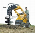 Mini skid steer loader HY380 with Auger