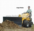 Mini skid steer loader HY380 -angle blade
