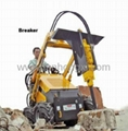 mini skid steer loader HY380 - breaker