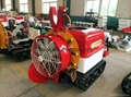 Single-powered front-mounted blower