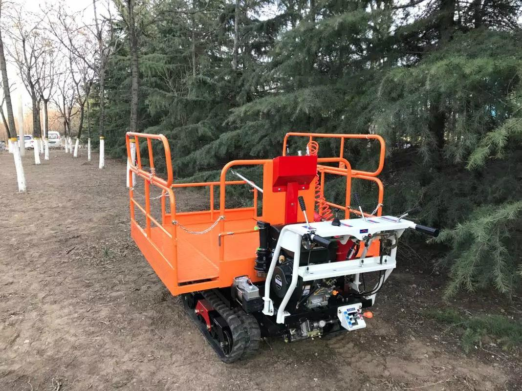 Crawler type dumper with lift container, Hydraulic Scissor lifter 9