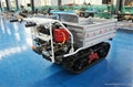 Multi-functional Tracked  self-discharge crawler truck dumper 1