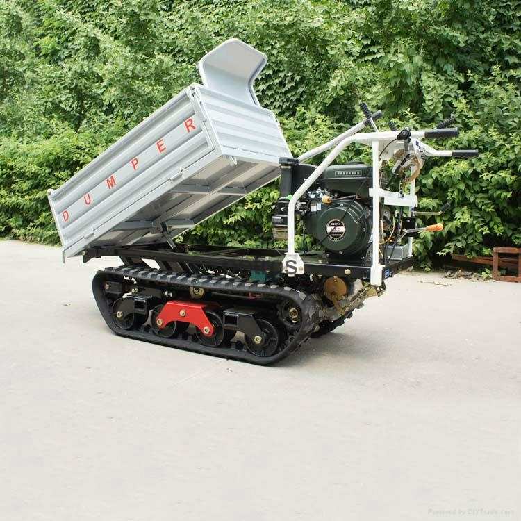 Multi-functional Tracked  self-discharge crawler truck dumper 3