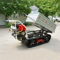 Multi-functional Tracked  self-discharge crawler truck dumper 4