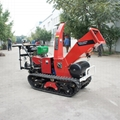 Self-propelled branch crusher