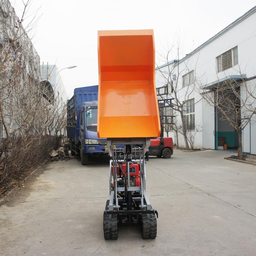 Crawler type dumper with lift container, Hydraulic Scissor lifter 5
