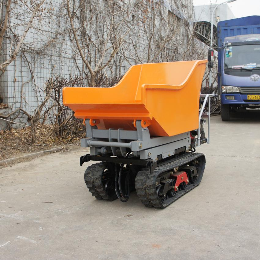 Crawler type dumper with lift container, Hydraulic Scissor lifter 7