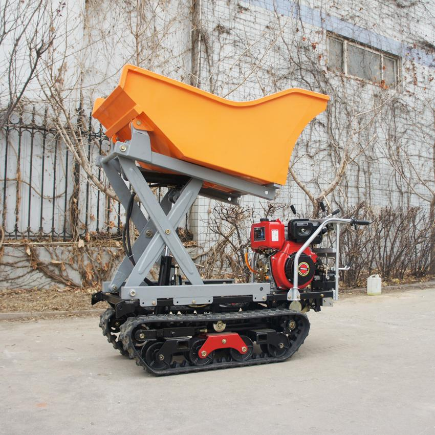 Crawler type dumper with lift container, Hydraulic Scissor lifter 8