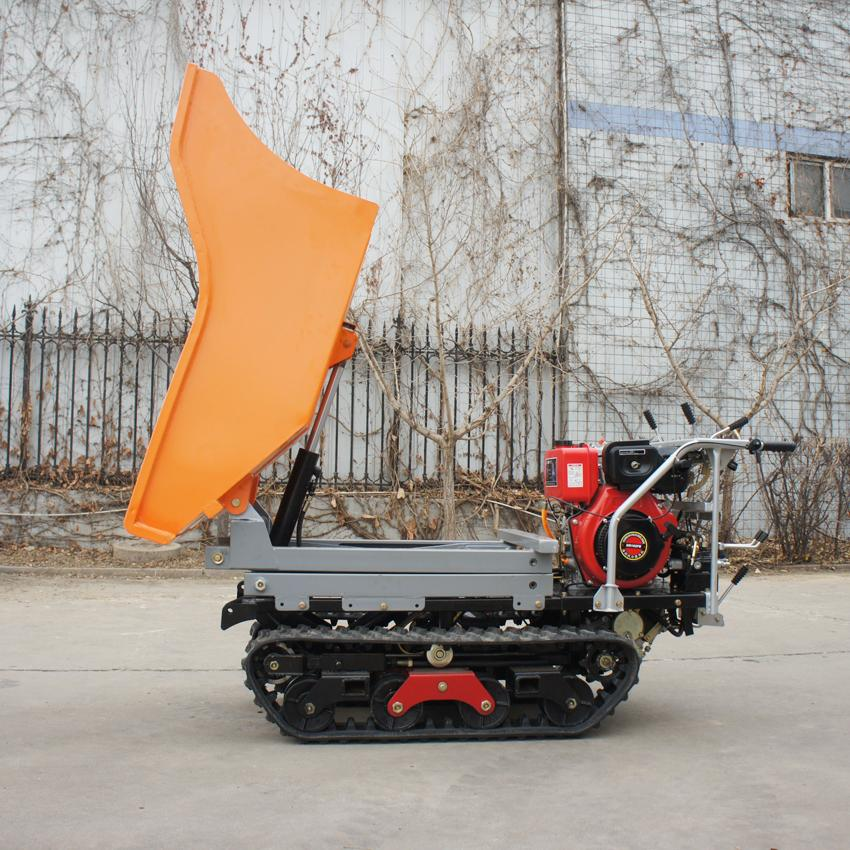 Crawler type dumper with lift container, Hydraulic Scissor lifter 12