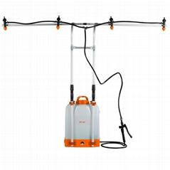 高喷杆 超低量扇形四喷头防滴漏防漂移电动喷雾器