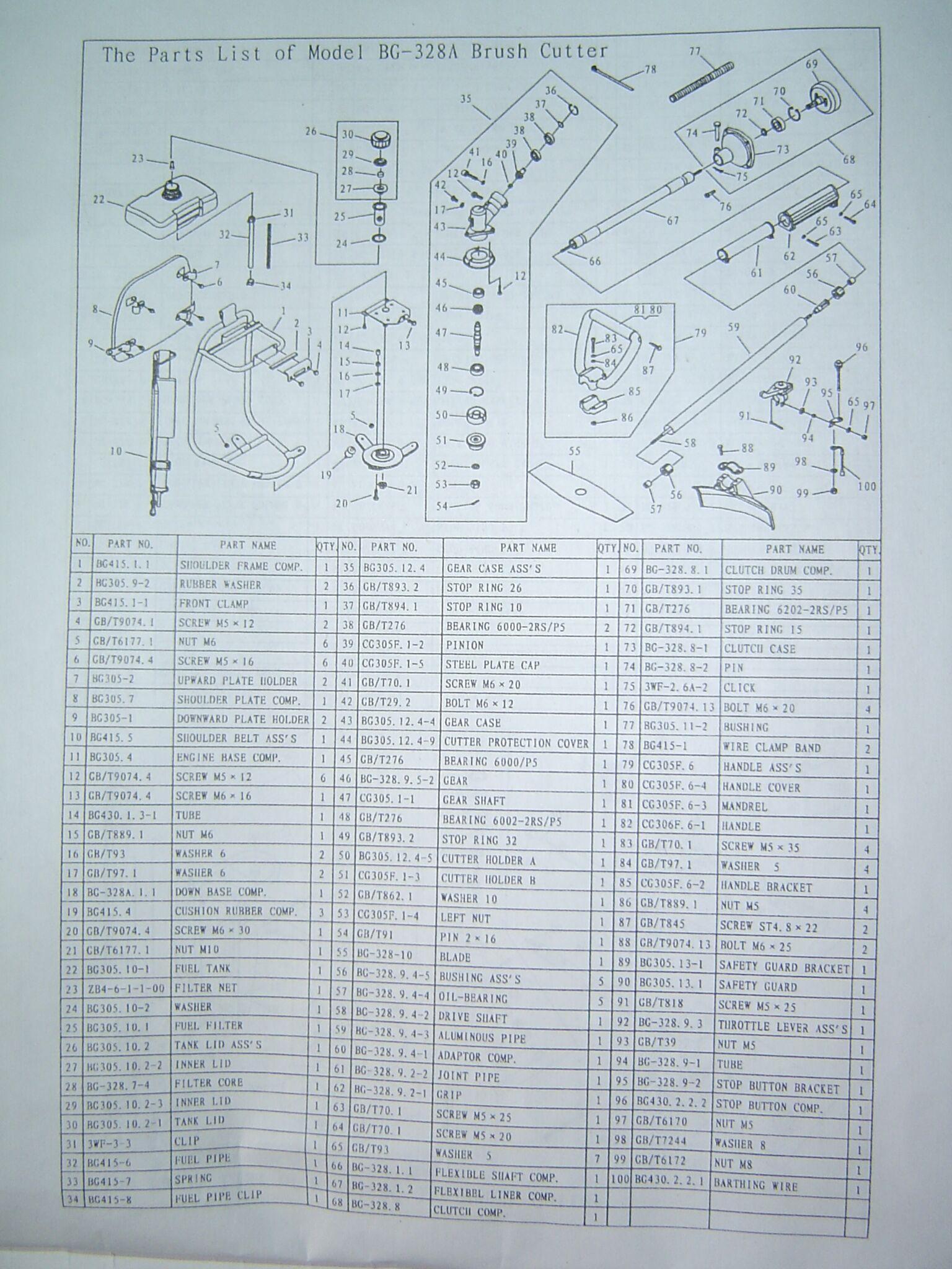 两冲程割灌机BG328 4