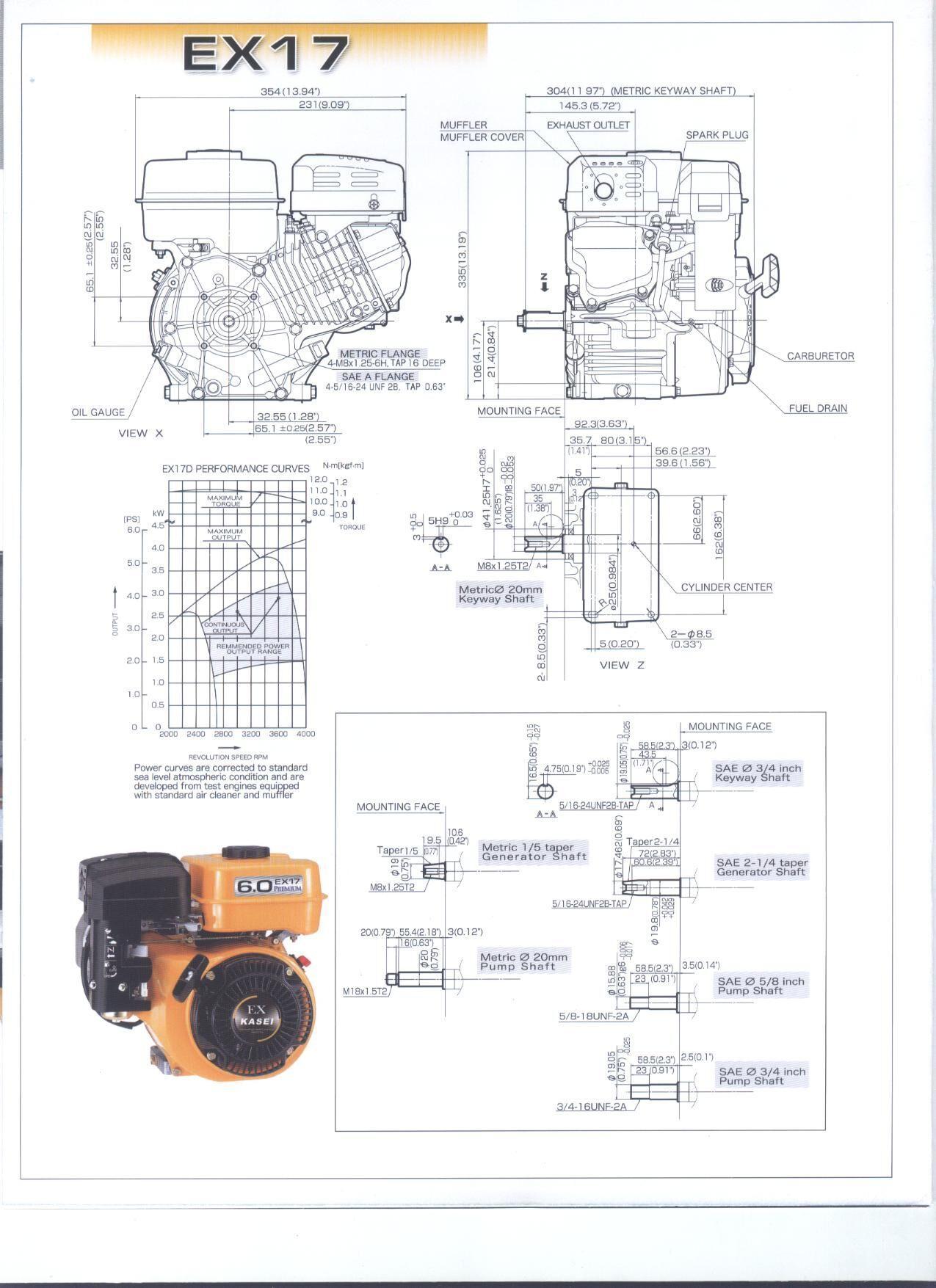 SPARE PARTS OF EX17 SUBARU GASOLINE ENGINE   8