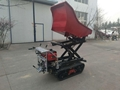 Crawler type dumper with lift container, Hydraulic Scissor lifter 3