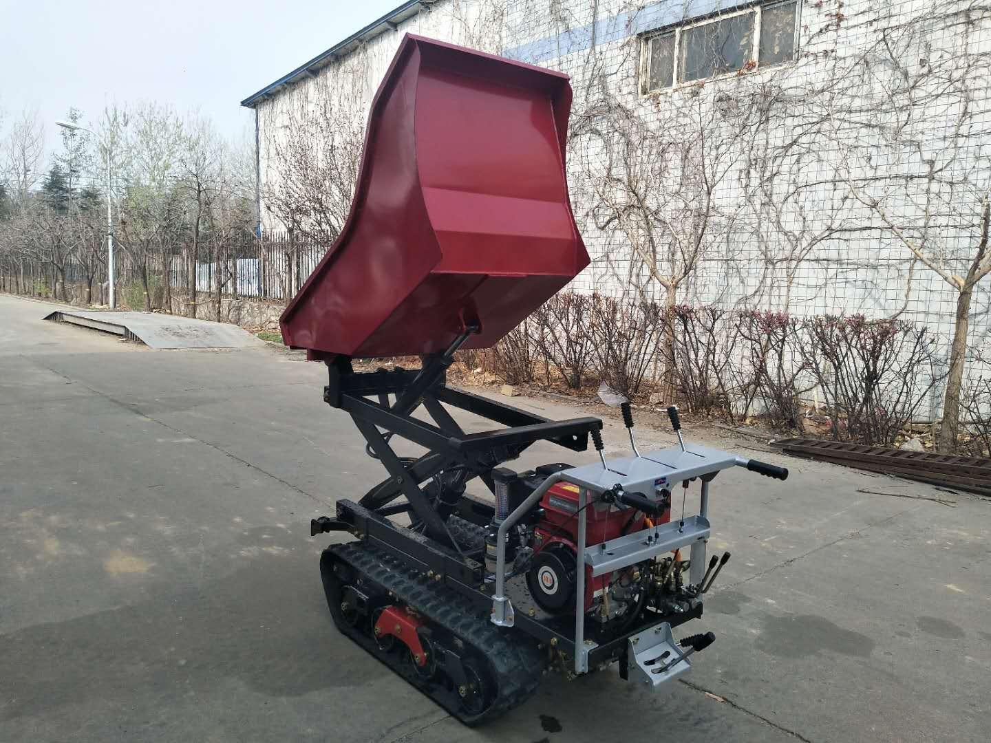 Crawler type dumper with lift container, Hydraulic Scissor lifter 14