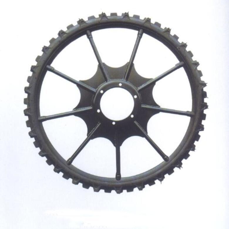 High ground gap spray parts rubber wheel 16