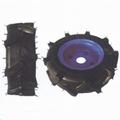High ground gap spray parts rubber wheel