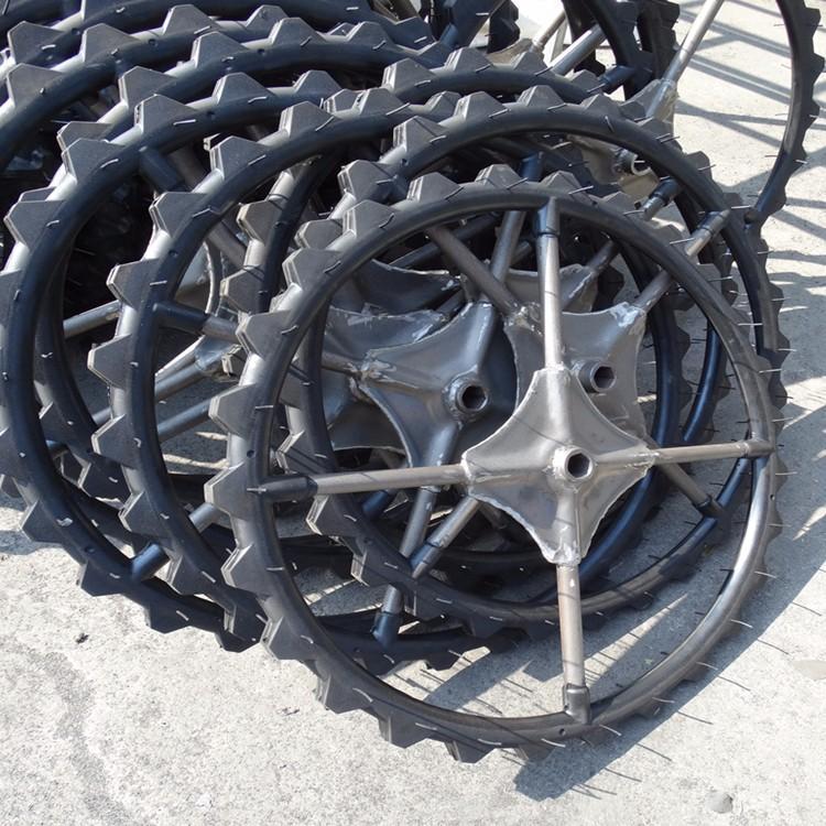High ground gap spray parts rubber wheel 2