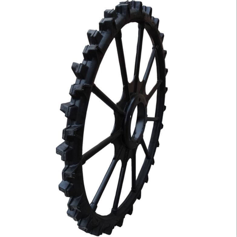 High ground gap spray parts rubber wheel 1