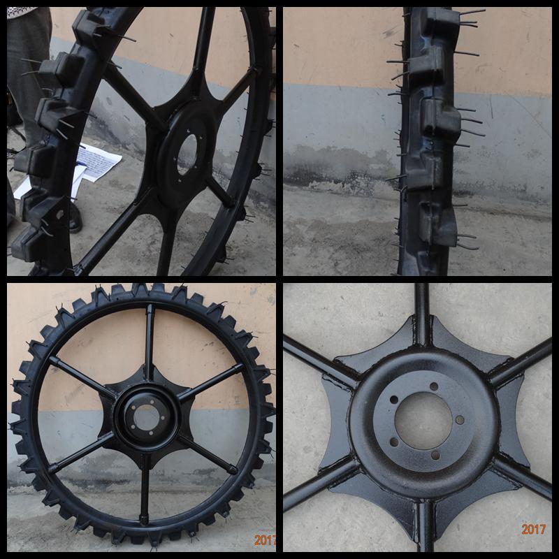 High ground gap spray parts rubber wheel 5