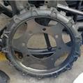 High ground gap spray parts rubber wheel 4