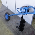 Hand drilling, small pit digger wheelbarrow drill  labor-saving drill