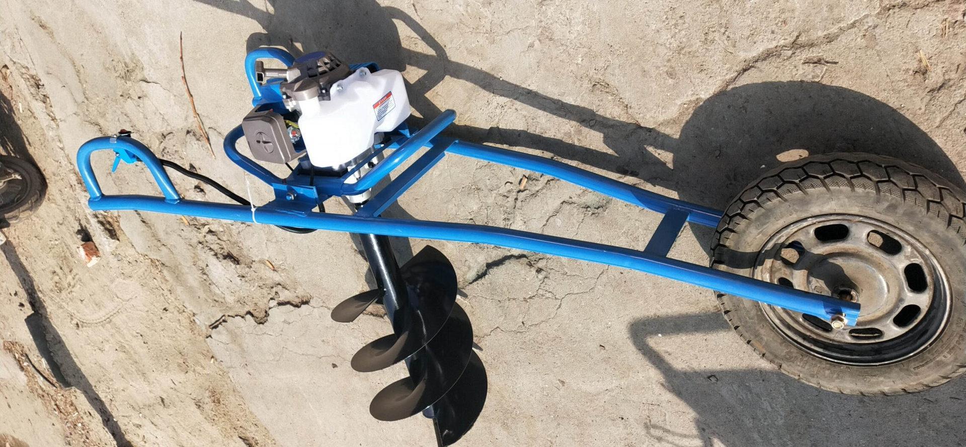 专用手推车式地钻机 小型挖坑机 2