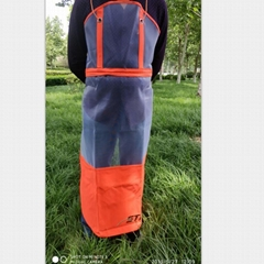 Mowing irrigation garden machinery protection apron