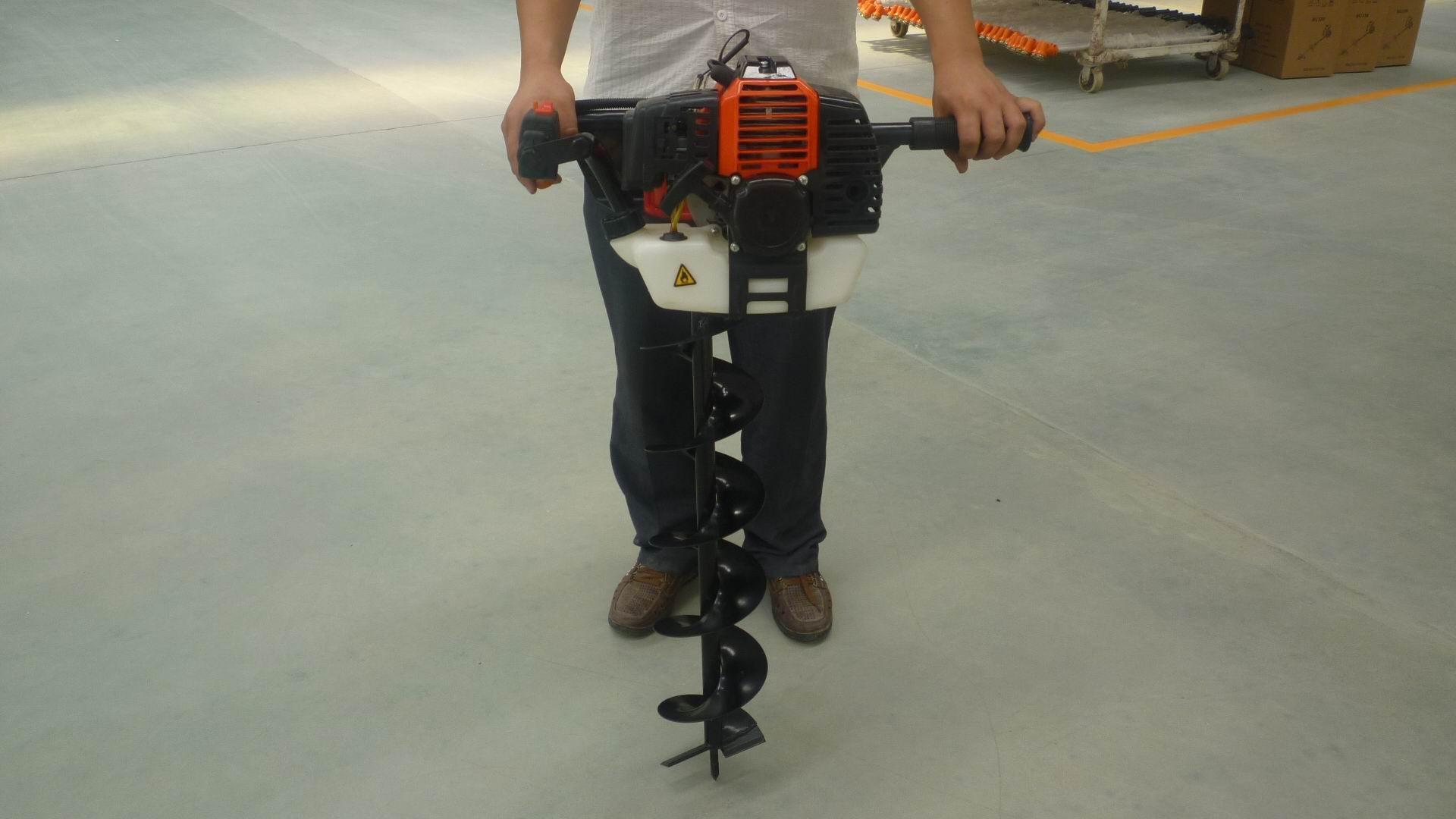 園林種植專用打洞機 高效率松土施肥器 螺旋杆鑽頭移栽機 11