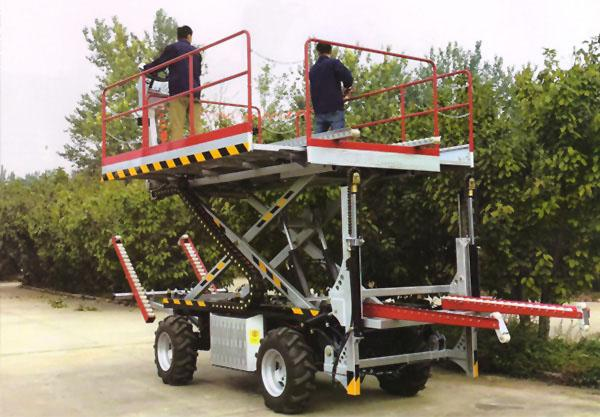 Crawler type dumper with lift container   Stepless speed change Scissor lifter 3
