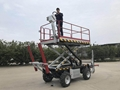 Crawler type dumper with lift container   Stepless speed change Scissor lifter