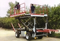 Crawler Platform with lift container Stepless speed change Scissor lifter