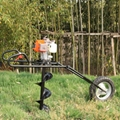 New design Hand-held earth auger folding