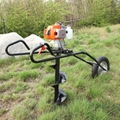 New design hand push folding type single wheel earth auger ground drill