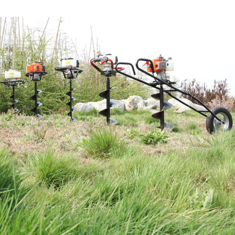 single wheel ground drill
